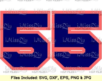 Baseball Sport block NUMBER Svg files for Cricut Silhouette cameo, Numbers Svg clipart decor stencils decals dxf cut files instant download