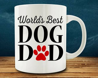 IMPERFECT SECONDS SALE - World's Best Dog Dad Coffee Mug (D-M823)