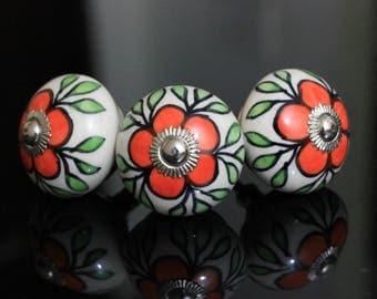Handmade Ceramic knob poignées de meubles Cabinet Möbelknopf Dresser Keramik knöpfe drawer Bouton Perillas -Price is of 1 nobs (OHK0145)