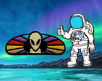 Astronaut Patch alien Patch Patches Iron On Patch Set Appliques Embroidered Patches