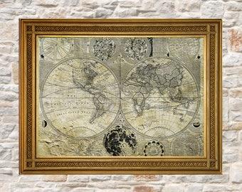 Old world map etsy gumiabroncs Choice Image