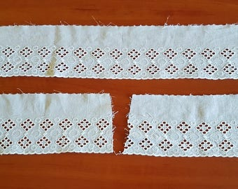 Vintage white cotton tape / braid /stripe for decorations