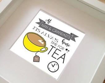 """FRAMED at """"my"""" house its always time for tea print  by Rachael Partis Design"""