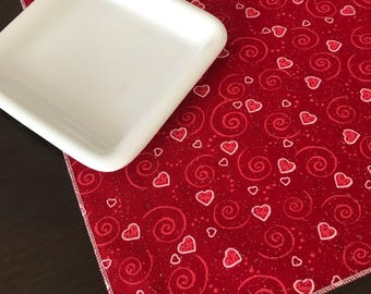 Valentine Table Runner | Valentines Day Decor | Valentine Table Decor | Red White Pink Table | Valentine Decoration | Valentine Day Table