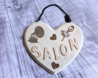 Shabby for salon 'Music Hall' door plate