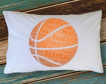 Basketball Pillowcase Sports Fanatic BASKETBALL Sports Lovers Bedding Bedroom Decoration Room Decor College Dorm Room Teenager Guest Room
