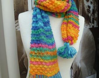 scarf multicolor dot fantasy