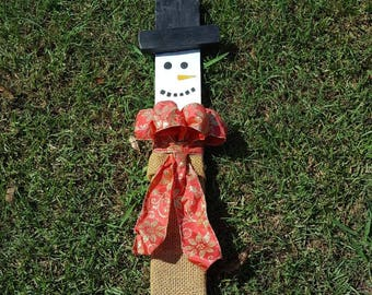 Snowman Holiday prop/sign