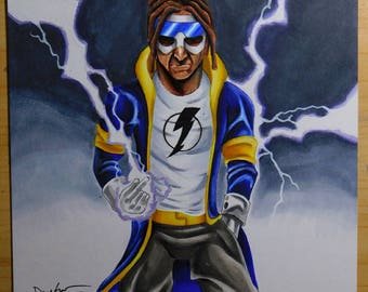 Static Shock 8x10 Copic Original