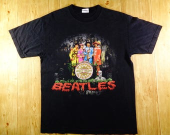 Vintage 90's The BEATLES Sgt. Peppers Lonely Hearts Shirt Rare