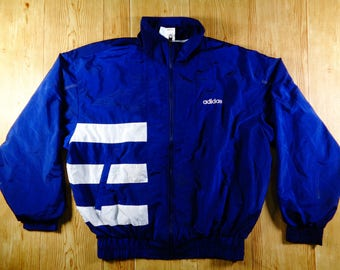 On Sale! Vintage ADIDAS Three Stripes Jacket Windbreaker RARE