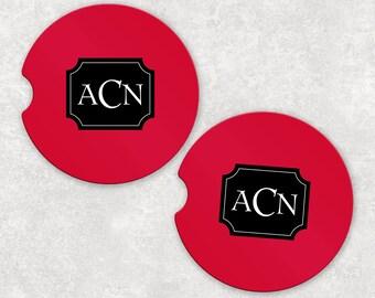 Sandstone Car Coaster | Monogram Car Coaster | Car Accessory | Custom Auto Gift | Personalized Gift | Monogram Gift | Car Coaster Set