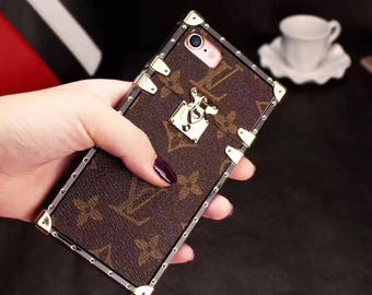 Louis Vuitton Monogram Flower Trunk Eye Silicone Otter Protect Case Cover for iPhone