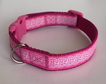 Dog Collar - Hundehalsband - Dior's Design - Pink Lace - SMALL & MEDIUM