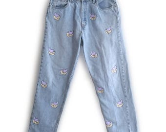 Hand painted Custom Dopey Jeans