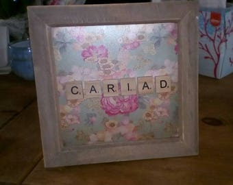 CARIAD box frame / LOVE box frame