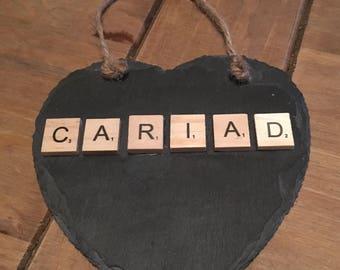 Slate heart - cariad