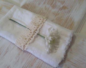 Linen Napkin / Whipped Cream Napkin / Table Napkin / Flax Napkin / Dinner Napkin / Serviette / Hebrew / Shabbat / Table Accessories / Decor