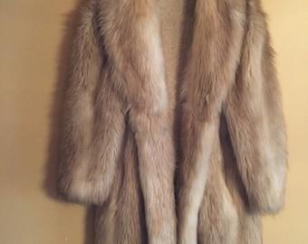 Faux Fox Fur Full Length Coat
