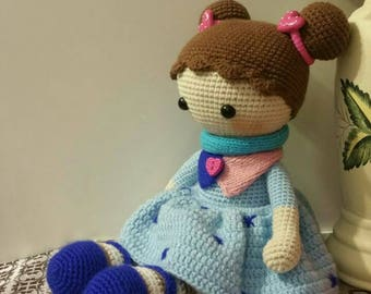 Crochet doll/ handmade doll/ amigurumi doll / stuffed toy / Tilda doll