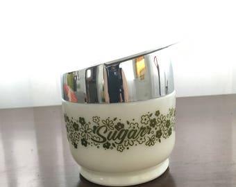 Vintage floral sugar bowl by Gemco