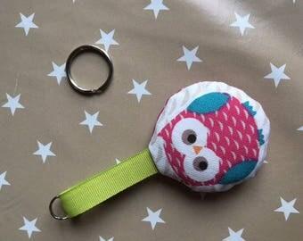 Pink Green OWL Keyring