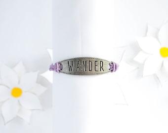 Quote Charm Bracelet   Braided Hemp Cord Bracelet   Stackable Bracelet   Handmade Bracelet   Adjustable Bracelet   Motivational Jewelry