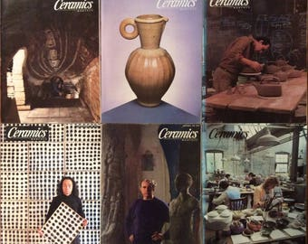 Ceramics Monthly Magazines - 6 Issues from 1988