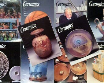 Ceramics Monthly Magazines - Full Year (10 Issues) from 2002