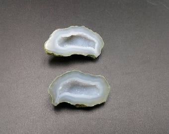 Micro Tabasco Geodes - Silvery Agate