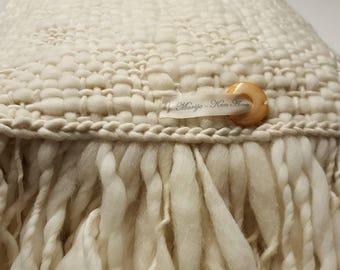 Wool blanket, merino wool blanket, loom blanket, soft blanket, warm blanket