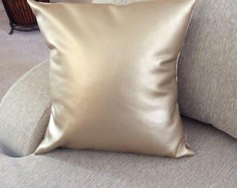 Metallic Gold Pillow,faux leather, pillow cover,decorative pillow, toss pillow ,throw pillow, Home  Decor