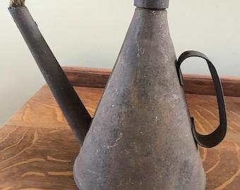 Rare Antique Teapot Miners Oil Lamp