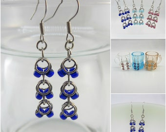 "Cobalt Blue Glass Beads with Silver Lining  - style: ""Zootopia"" FREE SHIPPING / Unique Handmade Jewelry / Custom Made Jewelry"