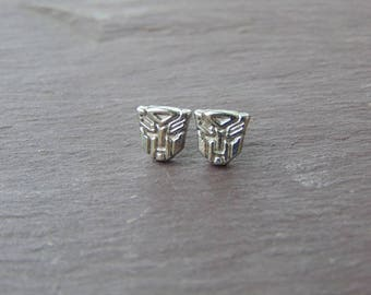 Transformers Optimus Prime Logo Stud Earrings