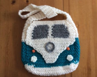 Crocheted VW Camper Van Bag