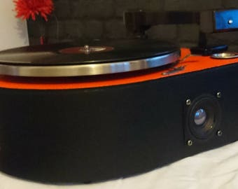 Bluetooth / Auxiliary Stereo Speakers His Masters Voice 1920's gramophone Upcycled