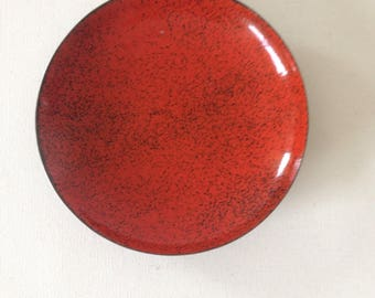 DDR enamel plate, enamel decorative plate, enamel jewelry tray, DDR enamel, coloured plates