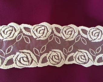 Lace tulle white width 7 cm width