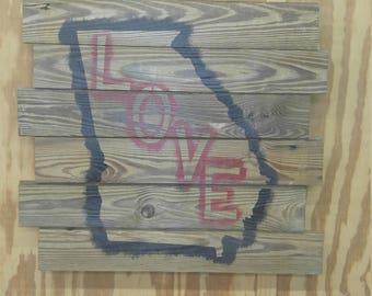 Georgia Love Hanger Sign