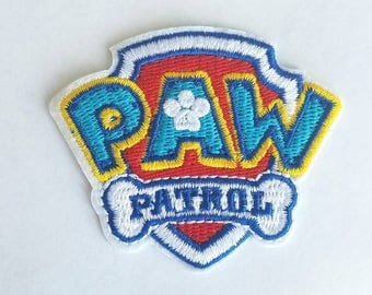 Paw Patrol iron on inspired embroidery patch