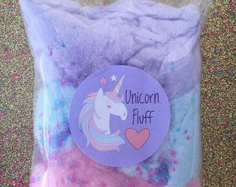 Unicorn Cotton Candy Favors (12)  and (18) 1 Flavour Bags Cotton Candy Gifts   Cotton Candy Favors   Fluff   Unicorn Theme