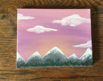 Sunset Mountain Painting