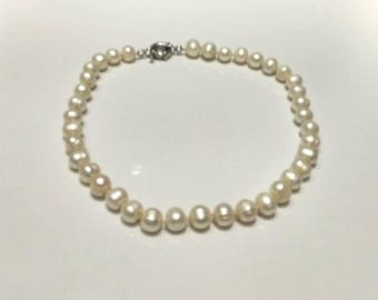 Vintage Single Strand Cultured Baroque Pearl Necklaces Jewelry (196)