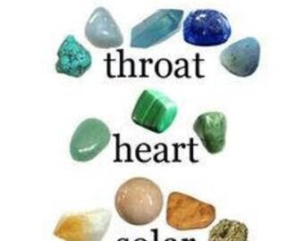 Chakra Stone Set  #chakras #worry stones #balancing