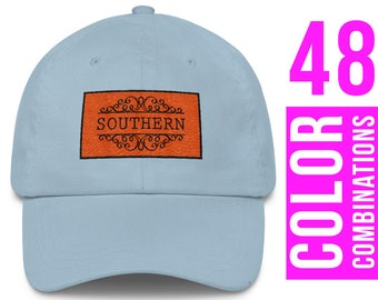 Southern Hat Southern Embroidered Hat Southern Embroidery Design Southern Cap Southern Baseball Hat Southern Trucker Hat Southern Gift