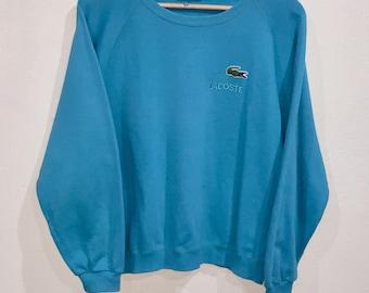 Rare!!! Vintage Lacoste Sweatshirt Pullover Jumper Sweater LA Chemise Lacoste Embroidery Big Logo