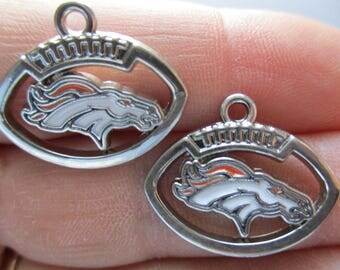 Set of 2 Charms inspired by Denver Broncos
