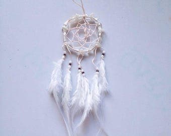 Beautiful White Feather Dream Catcher