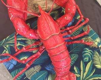UNIQUE available - Paper mache handmade lobster Sculpture